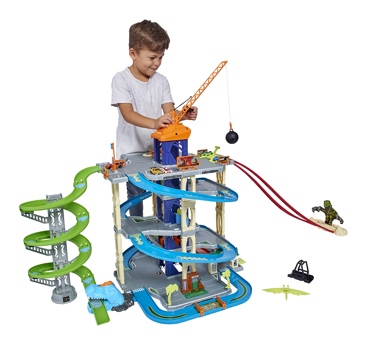 Toy Adventure Force Ultimate Dino City Garage Playset Kids Boys Toy