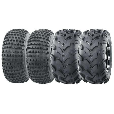 Atv 4 X 4 - Set of 4 ATV Tires (2) 20x7-8 20x7x8 front & (2) 19x7-8 19x7x8 Rear 4PR