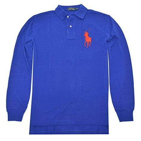 Polo Ralph Lauren Mens Classic Fit Big Pony Polo Shirt (Medium, Heritage Royal)
