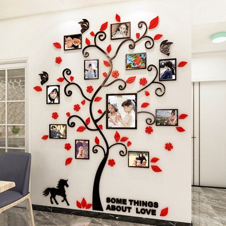 3d Wall Decals Photo Frame Acrylic, Wall Decals For Living Room