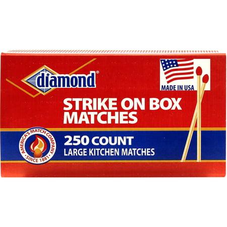 Diamond Kitchen Matches, 250 Count - Matchboxes Bulk