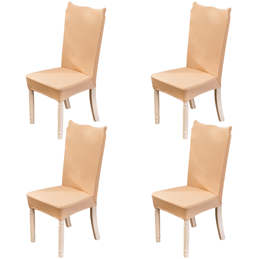 Pack of 4 Stretch Chair Covers, Chair Slipcovers Washable Removable Seat Covers Elastic Protector Chairs Covers for Hotel Restaurant Wedding Party Home Dining Room