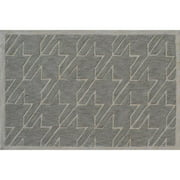 "The Rug Market Fresh Houndstooth Grey 2.8"" x 4.8"" Area Rug"