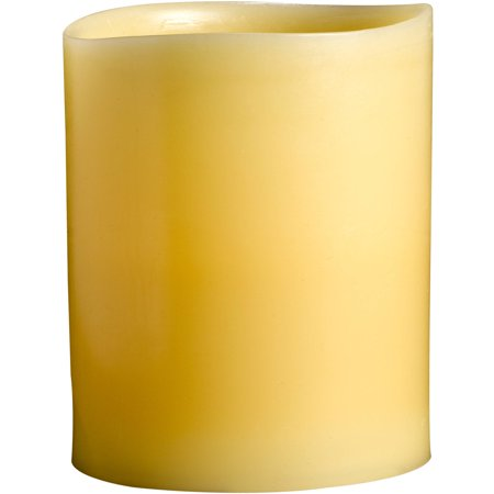 """Westinghouse 3"""" x 4"""" Smooth 1-LED Scented Wax Candle, Beeswax"""