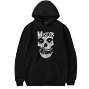 KABOER Men Halloween Gothic Punk Misfits Cool Skull Print Casual Hooded Sweatshirt Long Sleeve Hoodie Pullover Tops