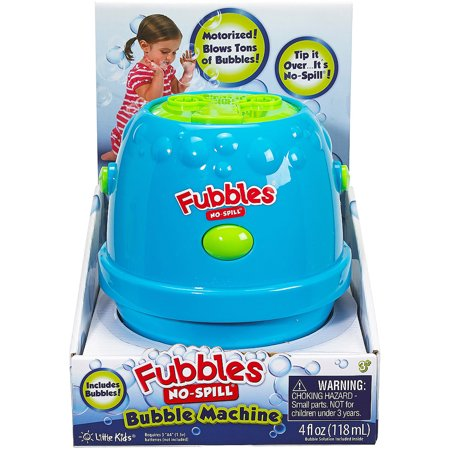 Little Kids Fubbles No Spill Bubble Machine, Blue and Green (No Spill Bubble Machine)