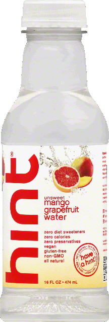 Hint Water, Unsweet, Mango Grapefruit by Hint
