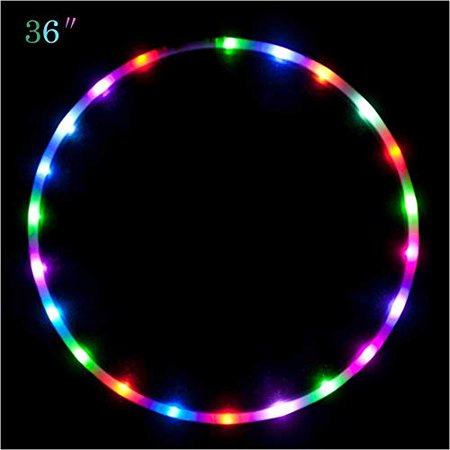 """Maylai 36"""" Led Hula Hoop for for Kids and Adults Changing LED Lights Light weight Hula Hoops - image 1 of 4"""