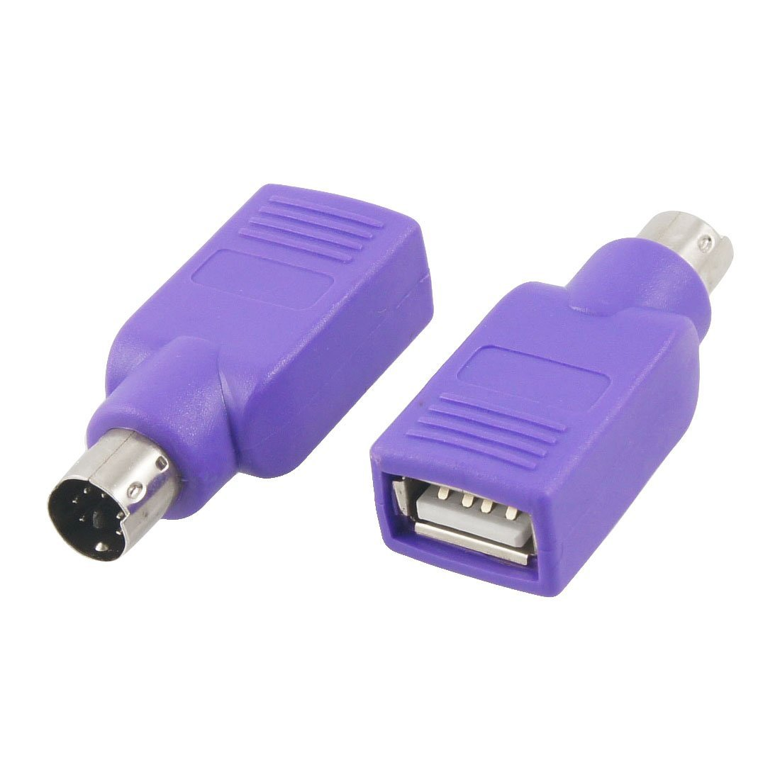 Keyboard USB to PS2 PS/2 Adapter Converter, Purple Color