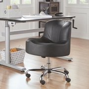 iNSPIRE Q Bridgeport Ergonomic Contour Adjustable Swivel Modern Accent Chair w Casters by  Classic