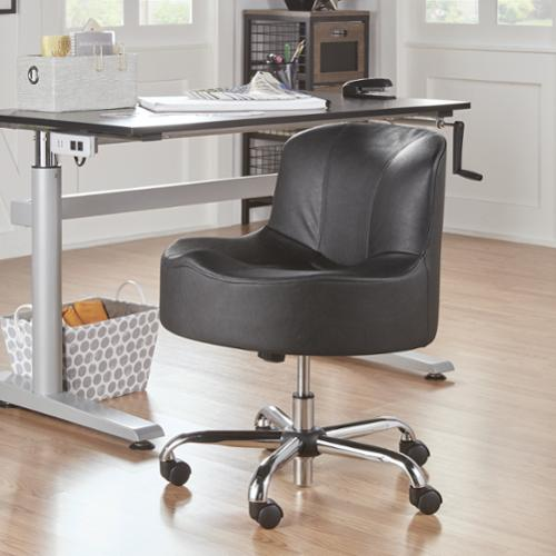 iNSPIRE Q Bridgeport Ergonomic Contour Adjustable Swivel Modern Accent Chair w Casters by  Classic