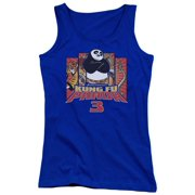 Kung Fu Panda Kung Furry Juniors Tank Top Shirt