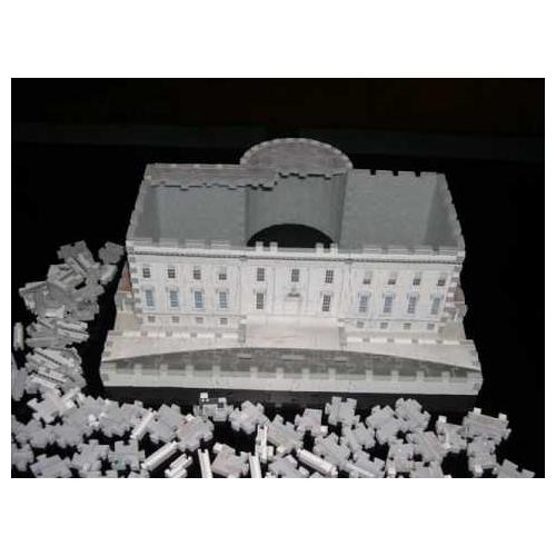 White House 3D Puzzle with LED Lights, 56 Pieces