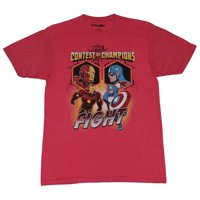 Captain America Mens T-Shirt -  Civil War Contest of Champions Iron Man Battle