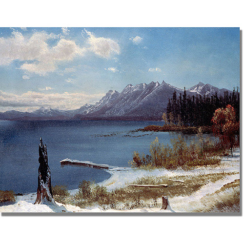 "Trademark Fine Art ""Lake Tahoe"" Canvas Art by Albert Biersdant"