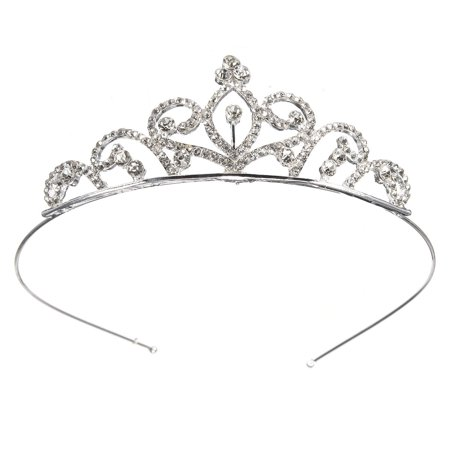 Luckyfine Rhinestone Crystal Crown Tiara - Wedding Bridal Prom Birthday Pegeant Prinecess Crown Headband for Kids/Girls - Prom Tiara