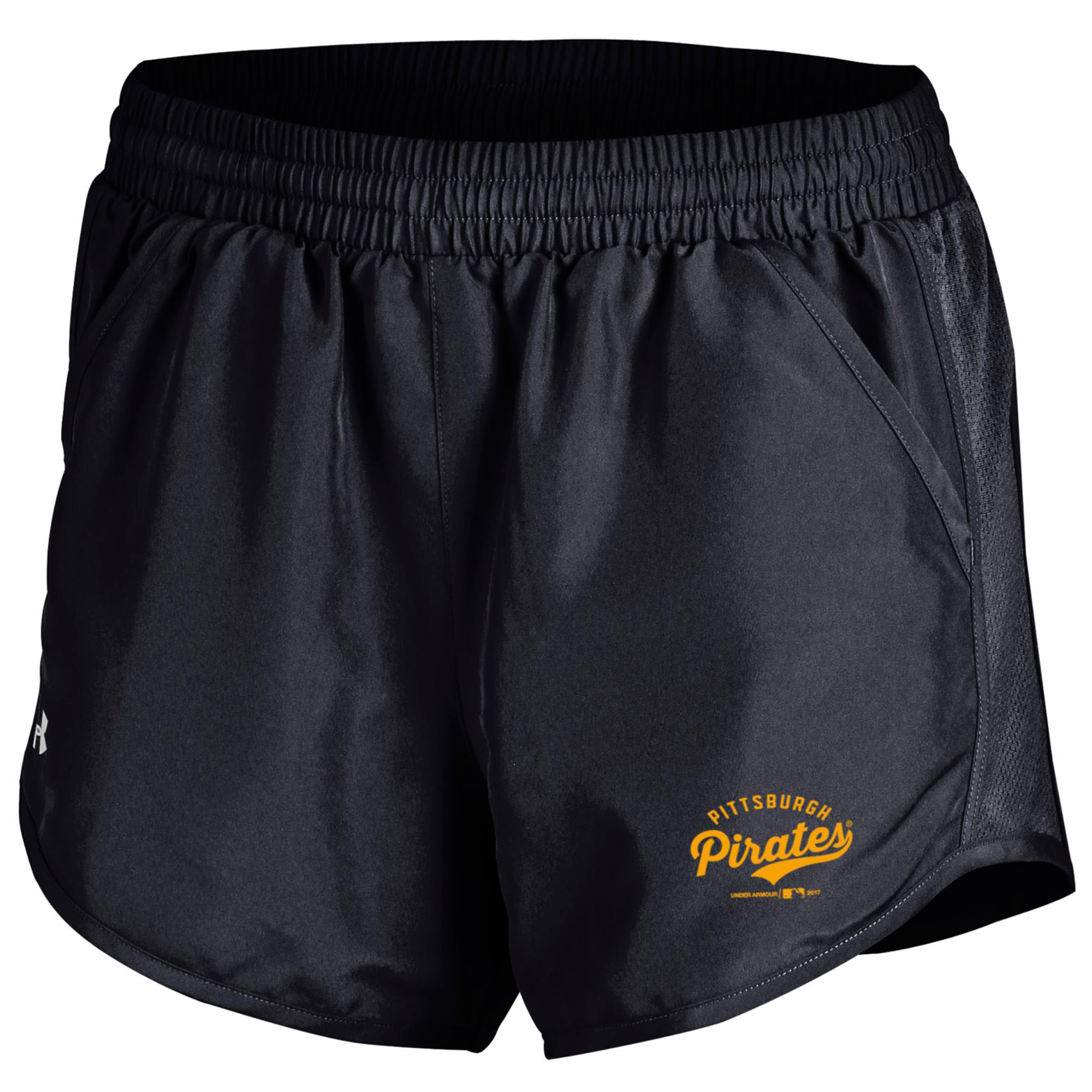 Pittsburgh Pirates Under Armour Women's Fly By Running Shorts - Black