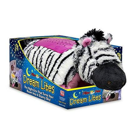 "Pillow Pets Dream Lites - Zippity Zebra 11"""