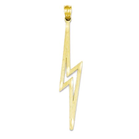 14k yellow gold lightning bolt charm pendant 45mm walmart 14k yellow gold lightning bolt charm pendant 45mm mozeypictures Choice Image