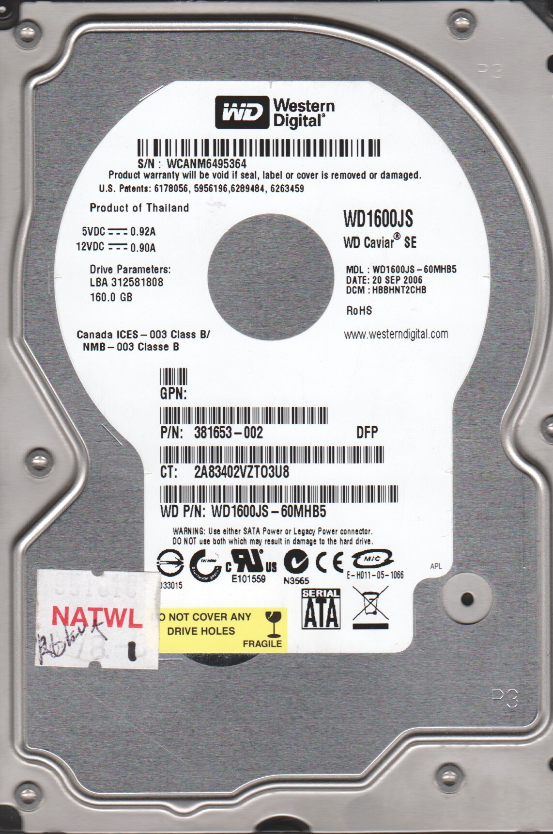WD1600JS DRIVER FOR WINDOWS