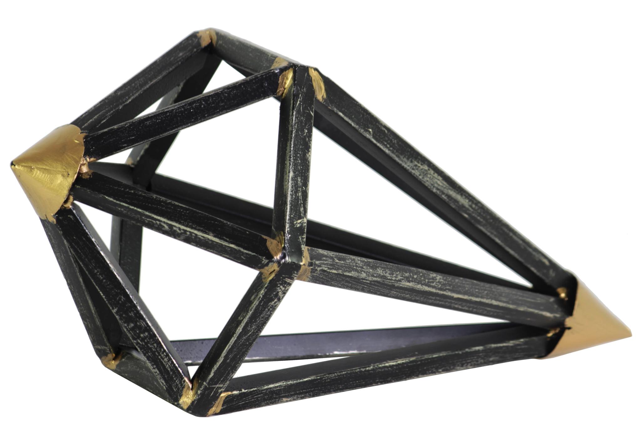 Urban Trends Collection: Metal Sculpture Tarnished Finish Black by Urban Trends Collection