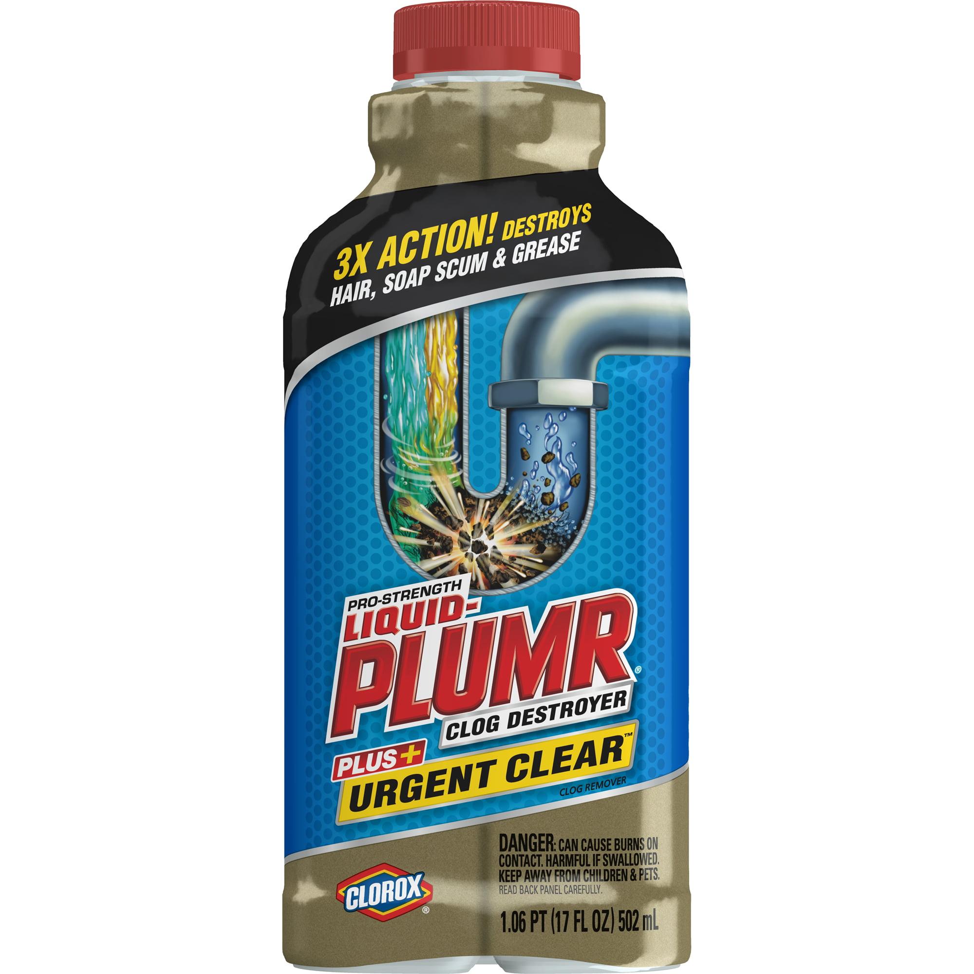 Liquid-Plumr Pro-Strength Clog Remover, Urgent Clear, 17 oz
