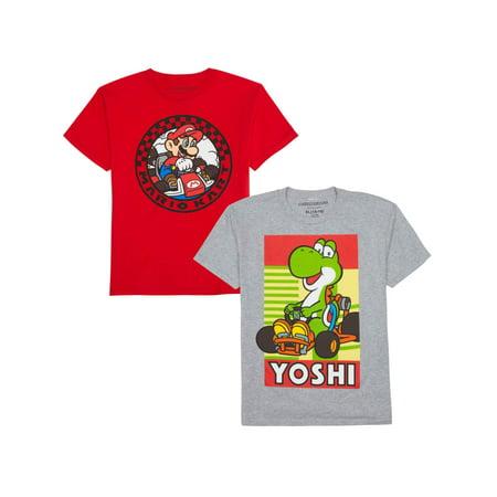 Super Mario Bros. Short Sleeve Graphic Tee Bundle (Little Boys & Big Boys)](Mario Bros Pumpkin)