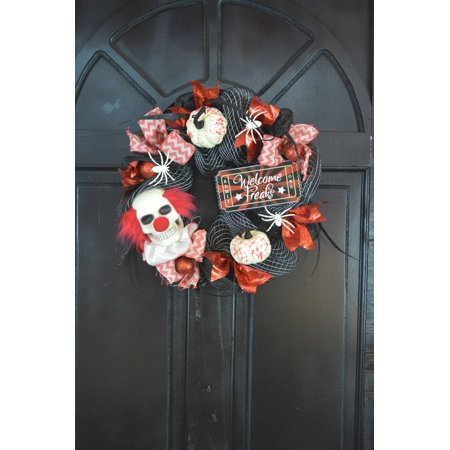 Way To Celebrate Halloween Clown Mesh (Halloween Wreaths)