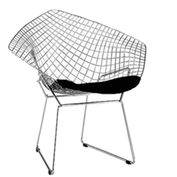 Fine Mod Imports Wire Diamond Chair in White