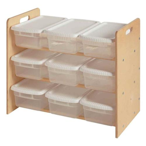 Toy Organizer w 9 Bins (Natural)