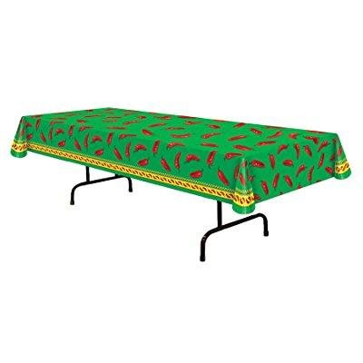 UHC Chili Pepper Table Cover Fiesta Theme Party Supplies Home Decoration (Fiesta Halloween Decoracion)