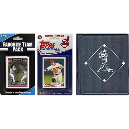 CandICollectables 2013INDIANSTSC MLB Cleveland Indians Licensed 2013 Topps Team Set & Favorite Player Trading Cards Plus Storage Album
