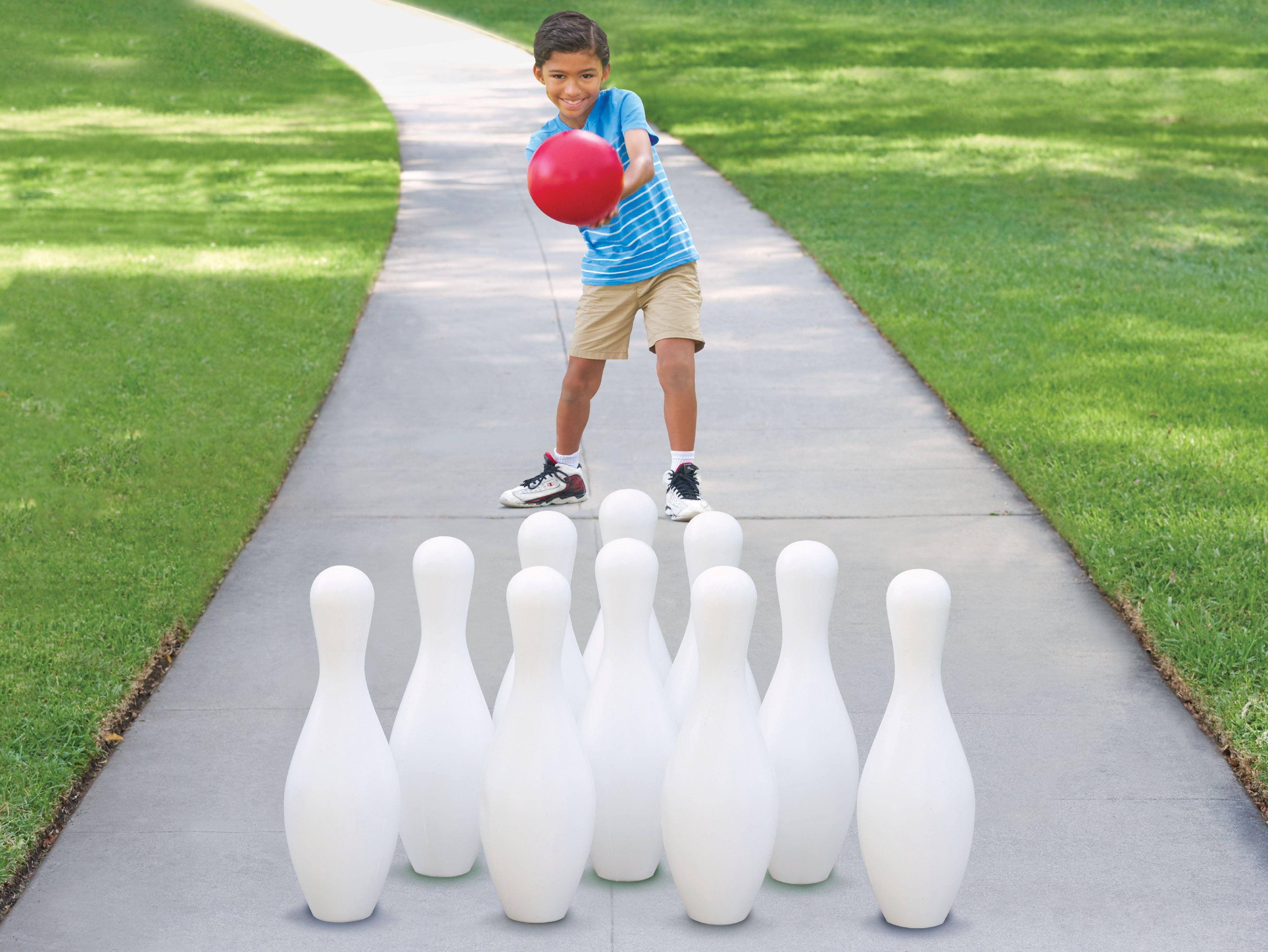 JUSTDOLIFE 12PCS Kids Bowling Set Interactive Bowling Game Bowling Pin with Bowling Ball