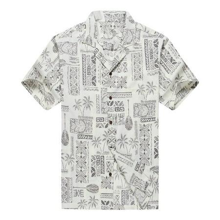 ceb3e8fc Made in Hawaii Men's Hawaiian Shirt Aloha Shirt Stonewash Vintage Look  Classicic White