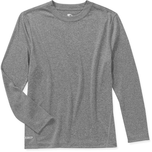 Starter Boys' Long Sleeve Heather Crew Active Tee