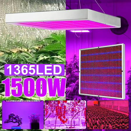 289/1365 LED 1200W/1500W Plant Grow Light Growing Lamp Lighting Panel AC 85V-265V For Veg Indoor Plant Hot Hydroponic Flower Vegetable Seedling Growth Greenhouse Medical Garden Grow Light Package