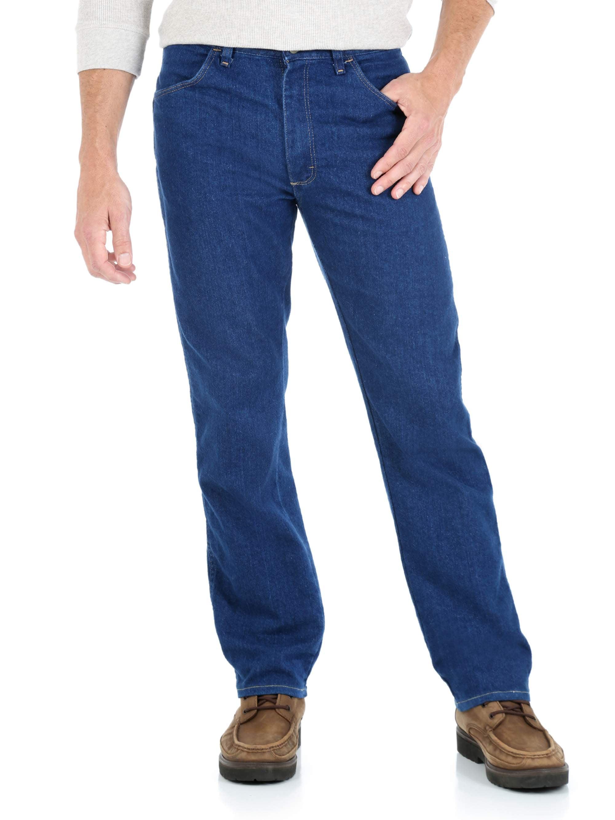 Wrangler Big Mens Stretch Jeans Vintage Skin Rip Off Soft