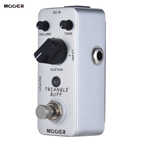 MOOER TRIANGLE BUFF Fuzz Guitar Effect Pedal True Bypass Full Metal Shell - image 6 de 7