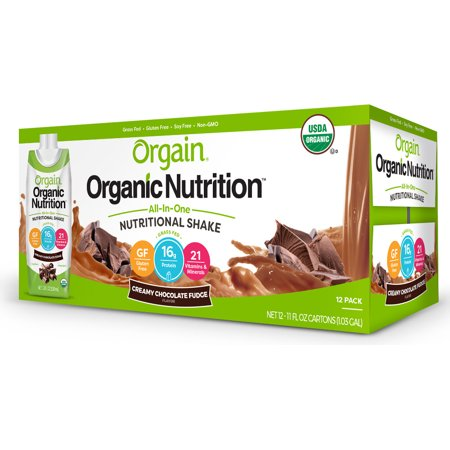 Orgain Organic Nutrition Shake, Chocolate, 16g Protein, 12 - Nutritional Blend