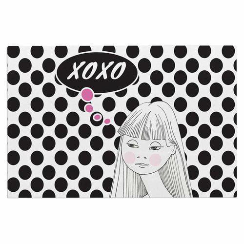 East Urban Home 'Xoxo Pop Art Polka Dot Girl' Doormat