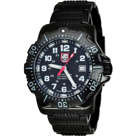Luminox Men's 45mm Black Steel Bracelet & Case S. Sapphire Quartz Analog Watch 4222