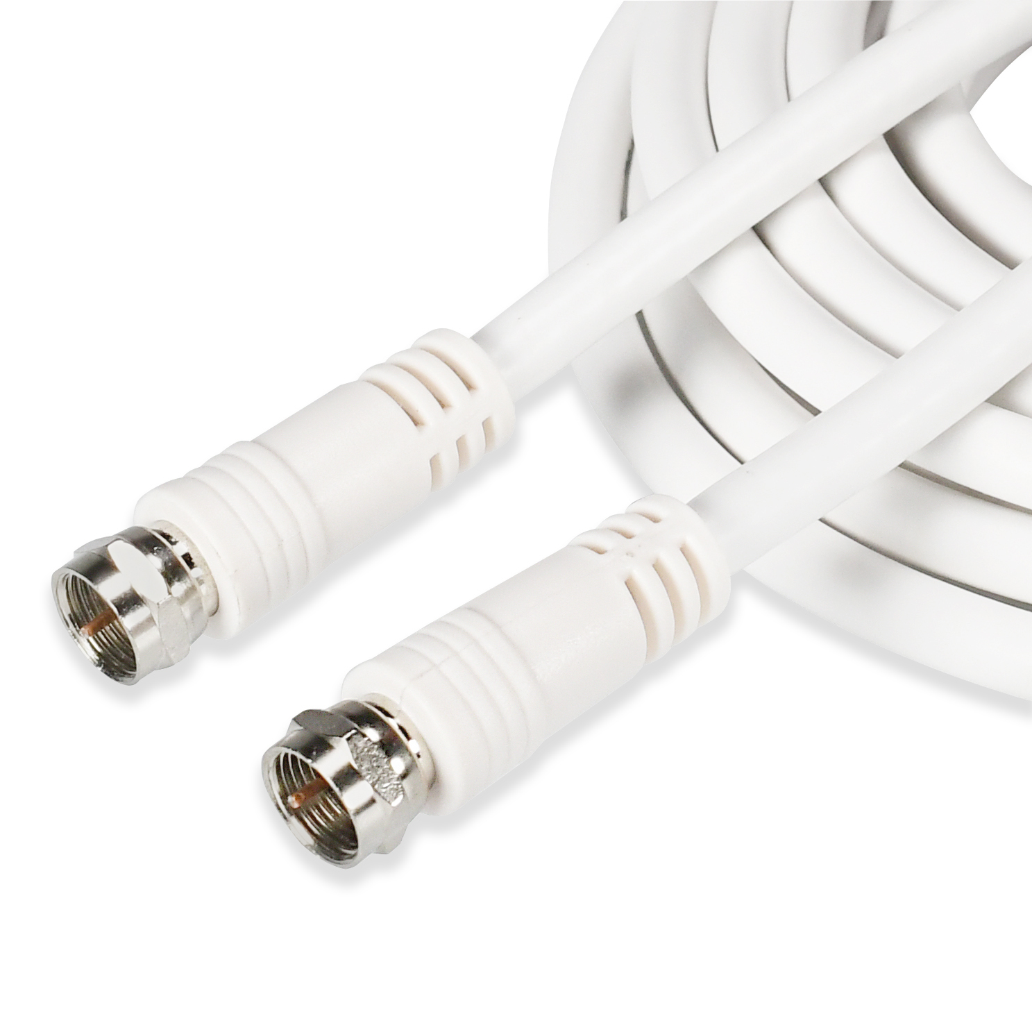 Onn RG-6 Coaxial Cable For F-Type Jack, 2 Connections, 6 Feet