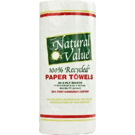 Natural Value Paper Towels, Full Sheet, White, 1 (Best Value Paper Towels)