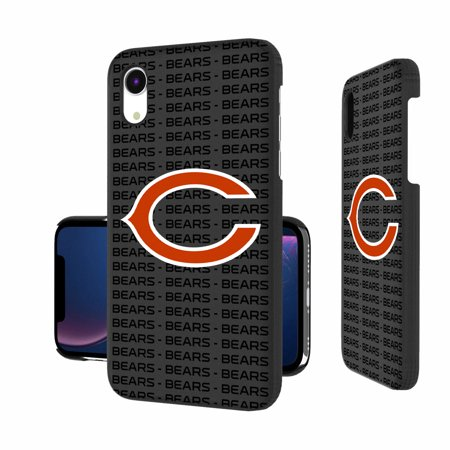 Chicago Bears iPhone Slim Text Backdrop Design Case