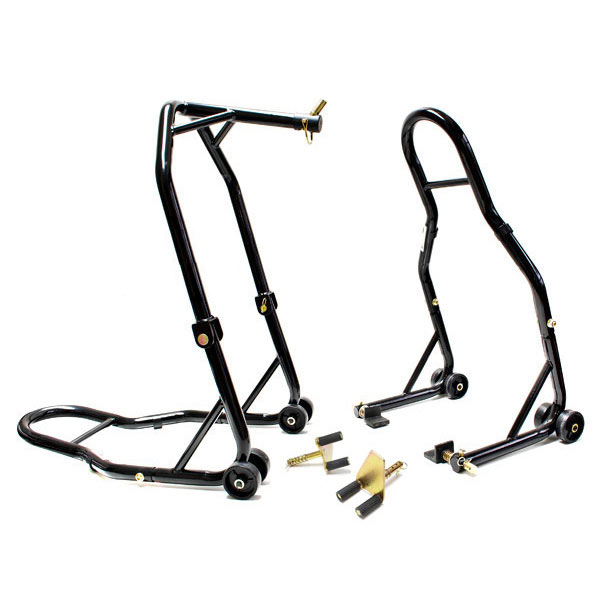 Venom Motorcycle Front Triple Tree & Rear Swingarm Spool Lift Combo Wheel Lift Stands For Honda CBR600RR (05-06) *must remove horn