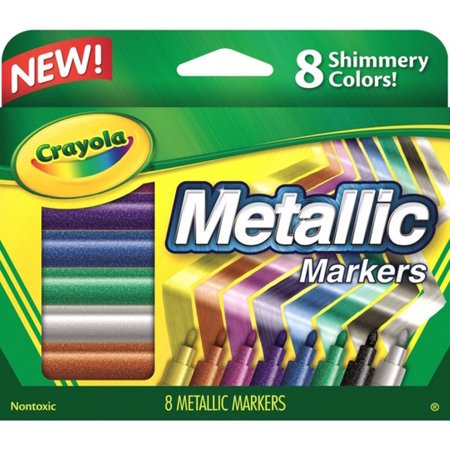 Crayola Metallic Markers 8 ea (Pack of 2)](Crayola Window Markers)