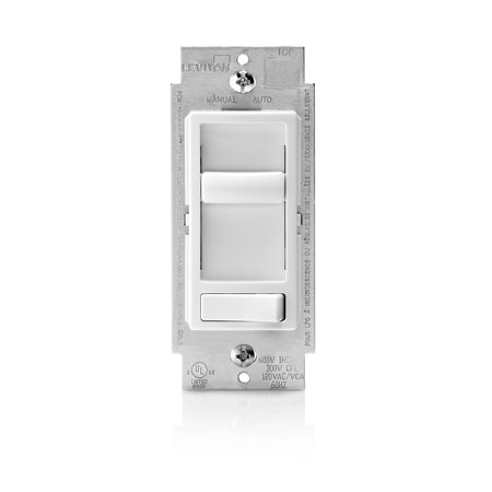 Sureslide Electromechanical Incandescent Slide Dimmer (Leviton 6674-P0W SureSlide Universal 150-Watt LED and CFL/600-Watt Incandescent Dimmer, White )