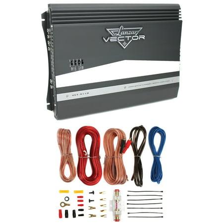 New Lanzar Vct4110 2000W 4 Channel Car Audio Amplifier Amp   8 Gauge Amp Kit