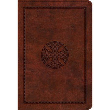 ESV Large Print Compact Bible (Trutone, Brown, Mosaic Cross Design) (Other)(Large - Mosaic Design