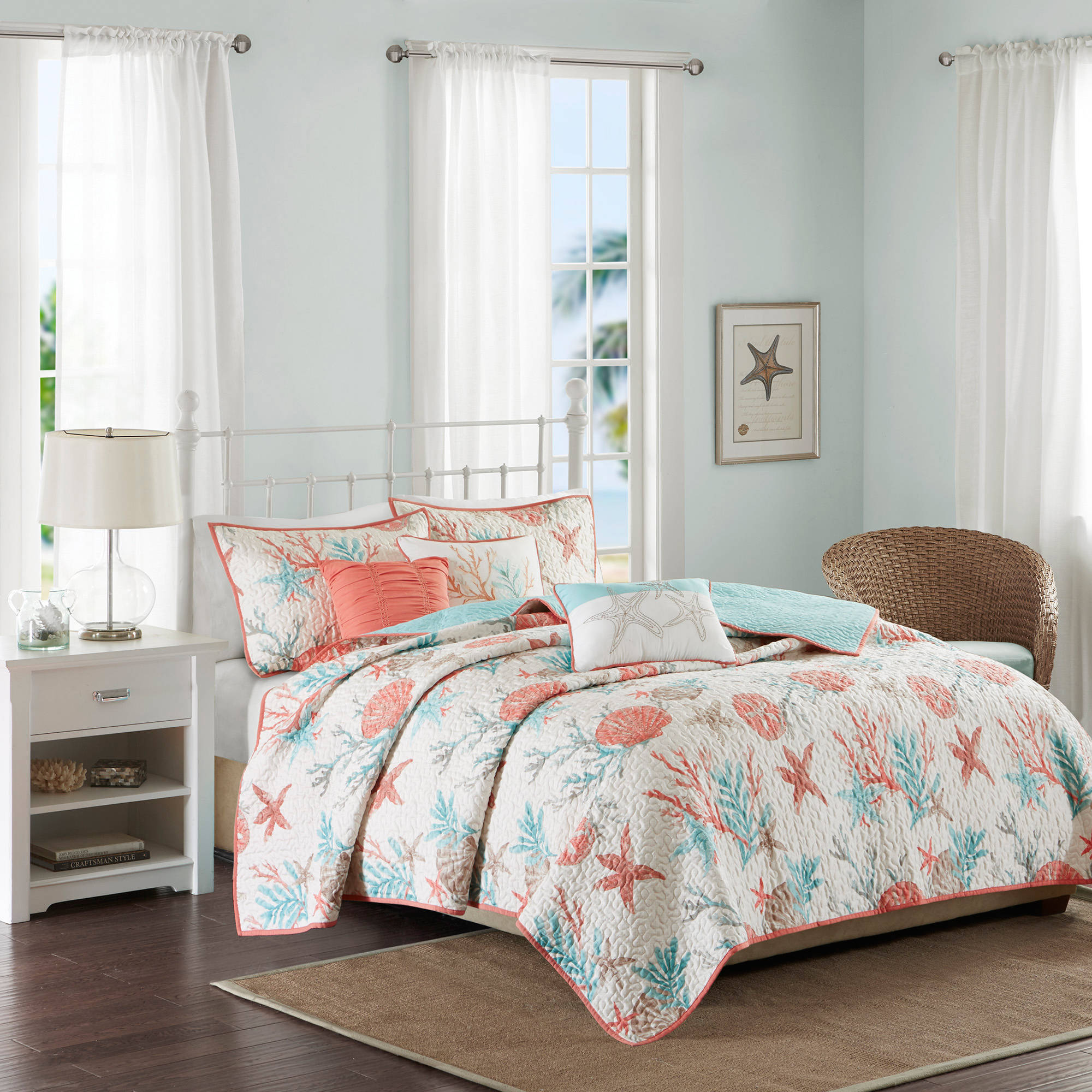 Home Essence Ocean View Quilted Coverlet Set by E&E Co.